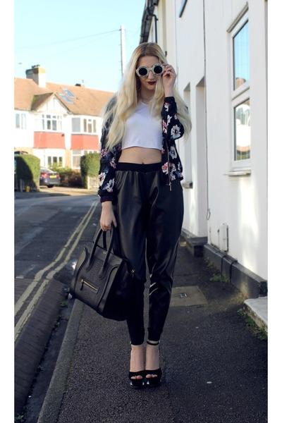 Missguided t-shirt - Sheinside jacket - Celine bag - Wildfox sunglasses