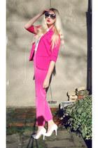 Missguided blazer - Choies sunglasses - Topshop pants - Missguided heels
