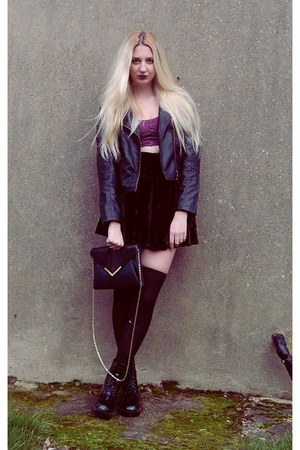 Sheinside jacket - Bik Bok top - Primark skirt