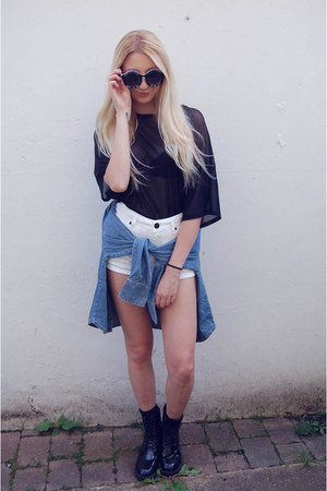 Missguided boots - River Island shorts - Choies sunglasses