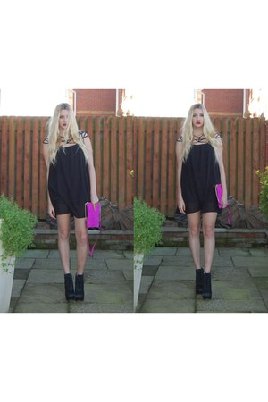 Kurt Geiger boots - Sheinside dress - River Island bag