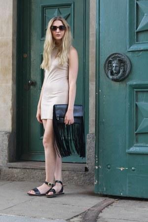 asos bag - rare london dress - H&M sunglasses - Primark necklace