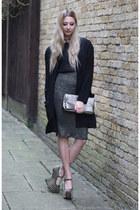 inlovewithfashion jacket - Boohoo bag - Topshop skirt - Blue Vanilla top
