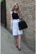 warehouse pants - bank shoes - H&M bag - Quiz top