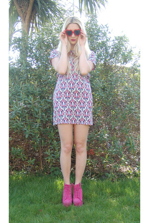 Jeffrey Campbell boots - Fashion Union dress - Ebay sunglasses