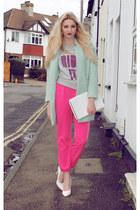 Sheinside coat - Matalan bag - House of Holland jumper - Missguided heels