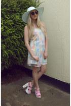 lavish alice dress - Reiss hat - Boohoo bag - Spy Love Buy heels