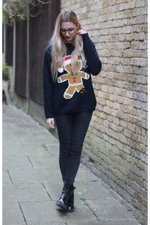 Primark jumper - Missguided boots - Urban Outfitters jeans