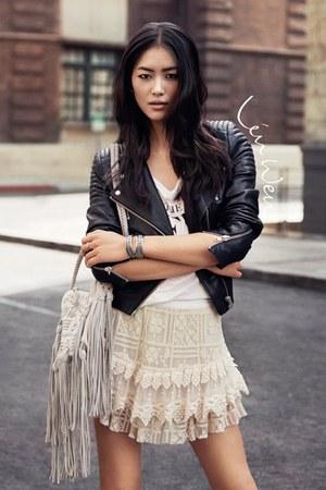 jacket - shirt - bag - skirt