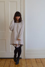Sacha-boots-monki-dress-monki-sweater-h-m-necklace