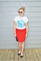 blue Hobo Islandwear top - red Andrea Jovine skirt