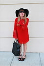 Red-the-mint-julep-boutique-dress-black-nixon-hat
