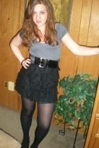 Express skirt - Target shirt - ny & co belt - HUE tights
