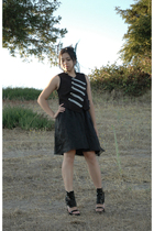 vintage dress - Target vest - handmade accessories - Givenchy shoes