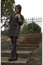 brown Alexander Wang blazer - brown audrey cantwell leggings - orange Hermes bra