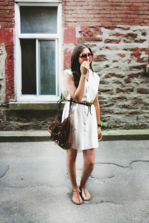 silk Aritzia dress - Micheal Kors bag - sam edelman sandals
