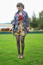 Hot-pink-floral-jacket-coral-shirt-puce-lace-tights-mustard-floral-skirt