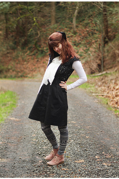 lace cardigan - cardigan - boots - frilly dress - patterned leggings - skirt