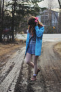 Boots-rain-jacket-love-shirt-polka-dot-tights-pinstripe-shorts-socks