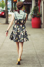 Floral-dress-polka-dot-shirt-sandals