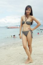 heather gray swimwear