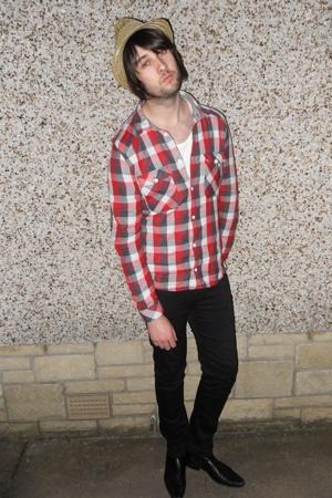H&M shirt - Topman vest - Cheap Monday jeans - vintage boots - festival stall ha