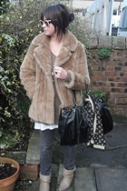 vintage jacket - Kate Moss for Topshop sweater - Levis jeans - asos accessories