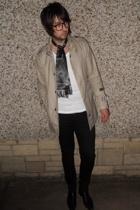 Gstar coat - Topman vest - Cheap Monday jeans - vintage boots - Tootal scarf