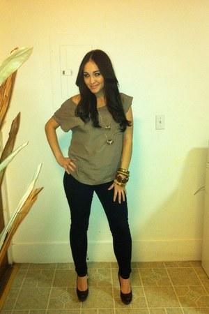 Forever 21 jeans - Forever 21 blouse - Forever 21 heels