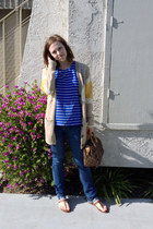 Quiksilver sandals - DL 1961 jeans - Louis Vuitton bag - Quiksilver cardigan