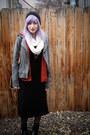 Black-ralph-lauren-dress-heather-gray-thrifted-jacket