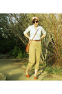 Turban-tres-elle-scarf-brown-coach-bag-unisa-flats-tan-ralph-lauren-pants-