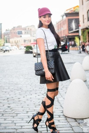 leather skirt Layana Aguilar skirt - Shutz heels