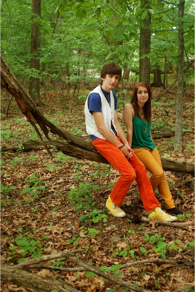 gold delias jeans - green Old Navy shirt - black Forever 21 boots - yellow Conve