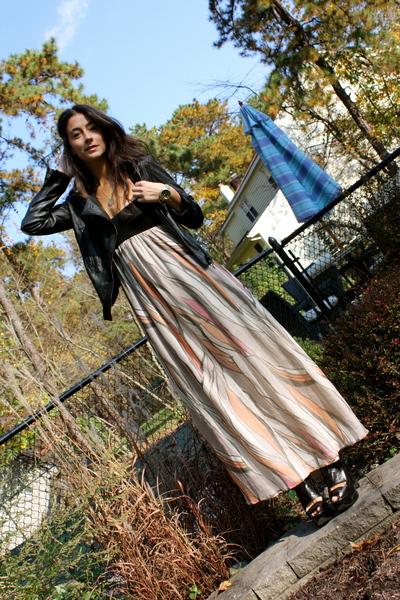 Alice & Olivia jacket - Ali Ro dress - Barbara Bui shoes - Fossil