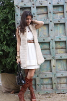 Zara vest - Banna Republic dress - Zara belt - Urban Outfitters shoes - anya hin