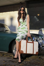 coach bag - asos dress - luluscom sunglasses - Jimmy Choo heels