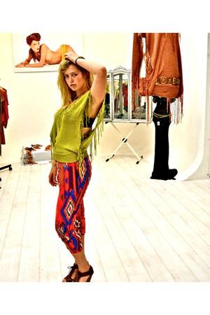 Zara pants - silke & elkke blouse - Bershka wedges