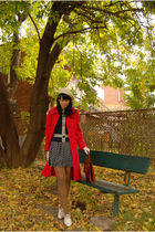 vintage coat - vintage from Beacons Closet blouse - vintage skirt - Forever 21 t