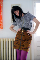 Forever 21 boots - H&M tights - Lalouka skirt - from etsy opulent oddities neckl