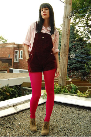 hot pink Emilio Cavallini tights - camel Forever 21 boots