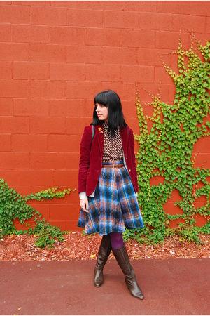 vintage blazer - vintage cardigan - vintage blouse - Comme des Garcons skirt - v