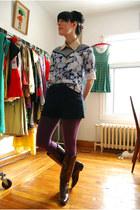 yeye - supayana blouse - Forever 21 shorts - American Apparel leggings - vintage