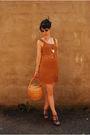 Brown-handmade-vintage-dress-vintage-basket-purse-silver-vintage-60s-glasses