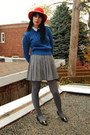 Citizen-vintage-hat-vintage-sweater-urban-outfitters-tights-vintage-skirt