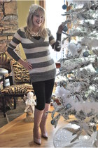 Forever 21 sweater - Target leggings - DEB boots - JC Penney accessories - JC Pe