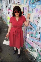 Laura Ashley dress - thrifted purse - Alannah Hill stockings - Boston Babe shoes