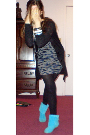 forever 21 jacket - H&M dress - Penny 3 Kenny shoes