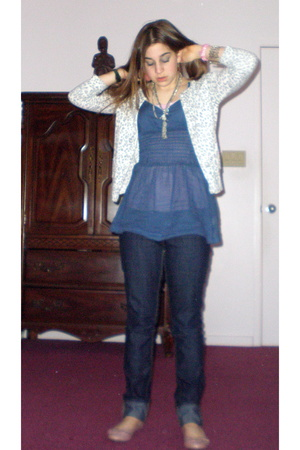 forever 21 sweater - free people shirt - forever 21 jeans - forever 21 shoes