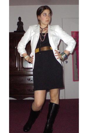 united colors of benetton blazer - vintage dress - Madden Girl shoes - vintage b